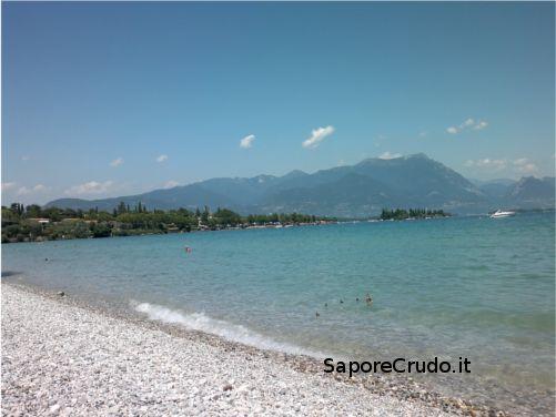 Lago di Garda, spiaggia di Pisenze.