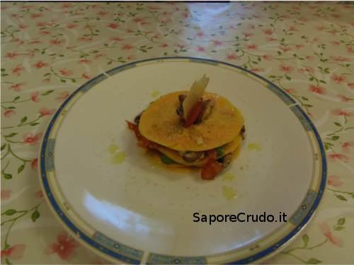 Lasagnette di zucca con parmigiano raw.