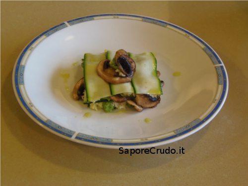 Lasagnette di zucchine raw.